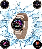 UWINMO Smart Watch, Fitness Tracker with Heart Rate & Blood Pressure & Sleep monitor for Android & IOS, Waterproof Activity Tracker Watch with Calorie Counter & Pedometer, Health Sport Watch for Women