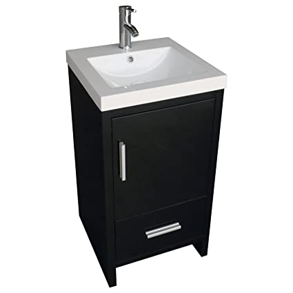 18 Inch Bathroom Vanity. Walcut 18inch Bathroom Vanity Mdf Wood Cabinet Resin Undermount Vessel Sink Set With Faucet And Pop