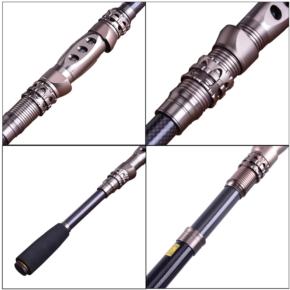 sougayilang portable telescopic carbon fishing rod travel