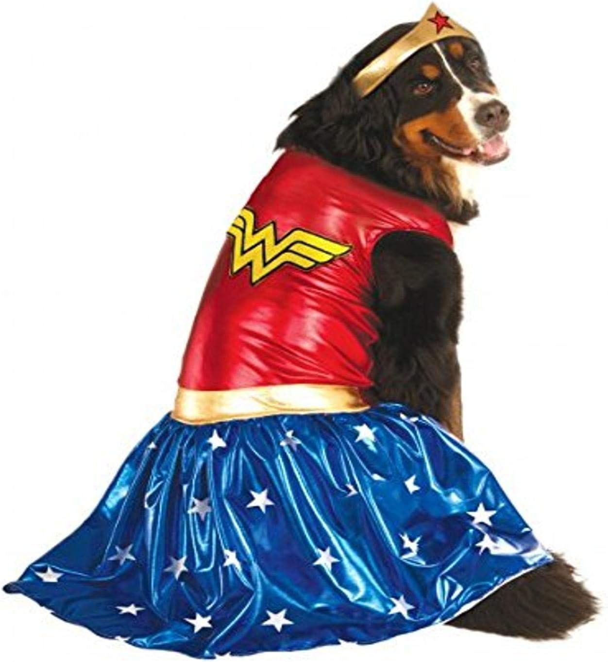 Super Hero Gift Big Dog Size XXXL Official Rubies DC Comic Wonder Woman Pet Dog Costume