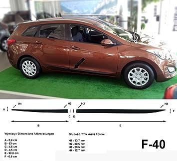 Spangenberg Listones de protección Lateral Negro para Hyundai i30 CW II Kombi 2. generación i30cw año de construcción 2012 - 2017 F40 (370004001): ...