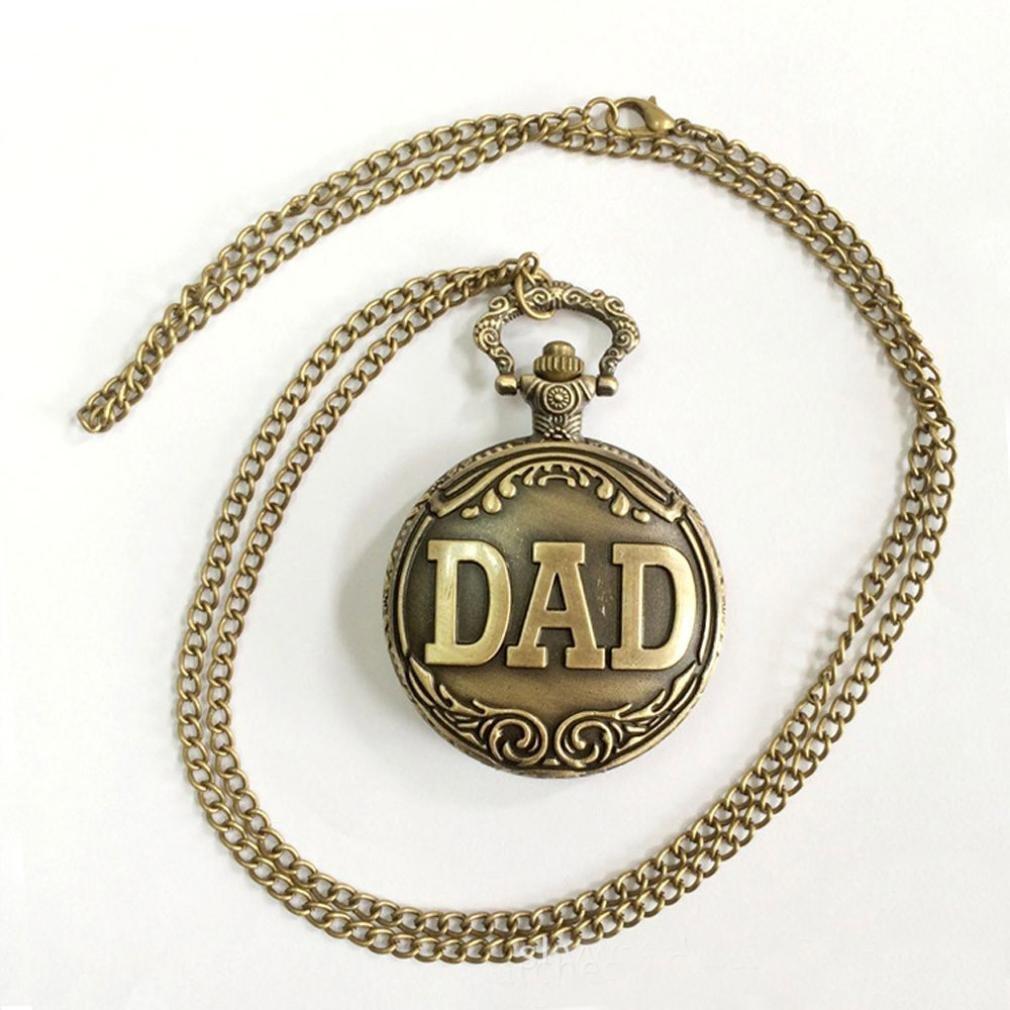 Watch Chain;START Nostalgia Bronze Relief Flower Unisex Watches Pocket Watch