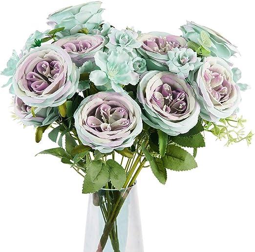 Colour No.6 Artificial Flowers Wholesale 50 Purple Wooden Roses