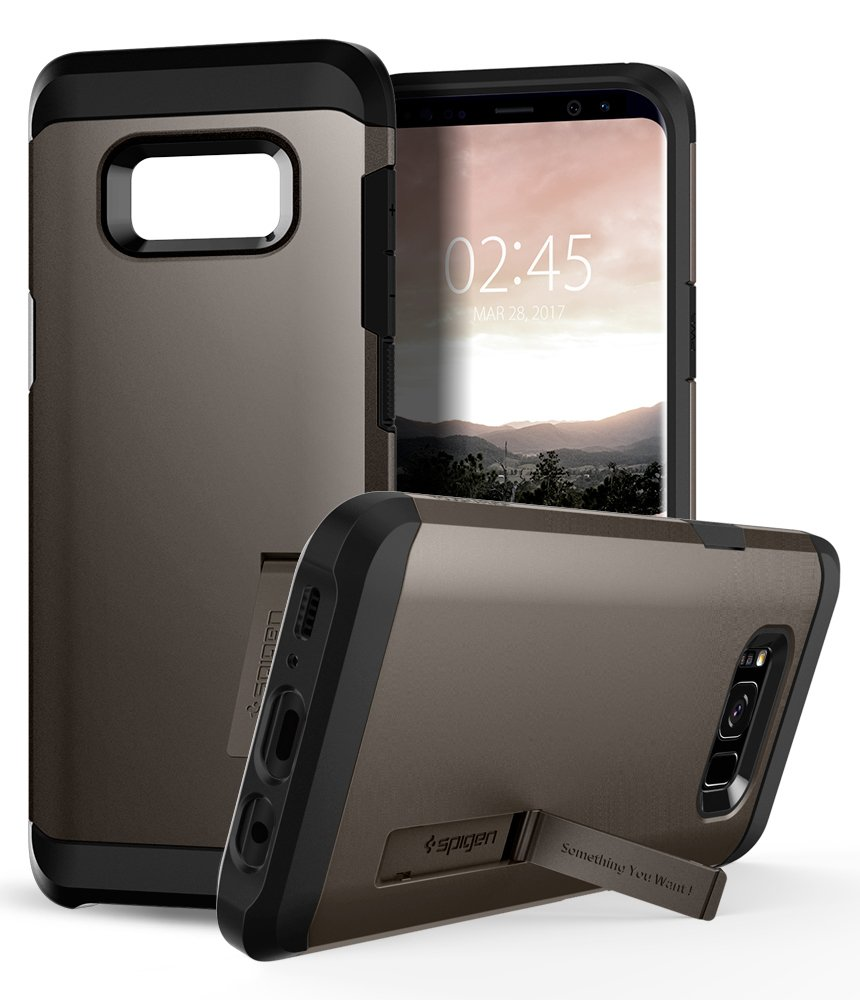 Spigen Tough Armor Galaxy S8 Case with Reinforced Kickstand and Heavy Duty Protection and Air Cushion Technology for Samsung Galaxy S8 (2017) - Gunmetal by Spigen (Image #5)