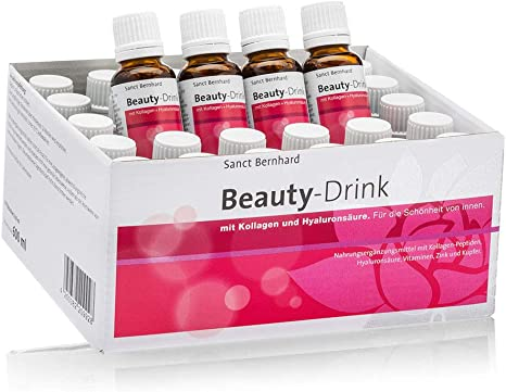 Beauty-Drink - Bebida de belleza con colágeno y ácido hialurónico - 30 Frascos: Amazon.es: Salud y cuidado personal