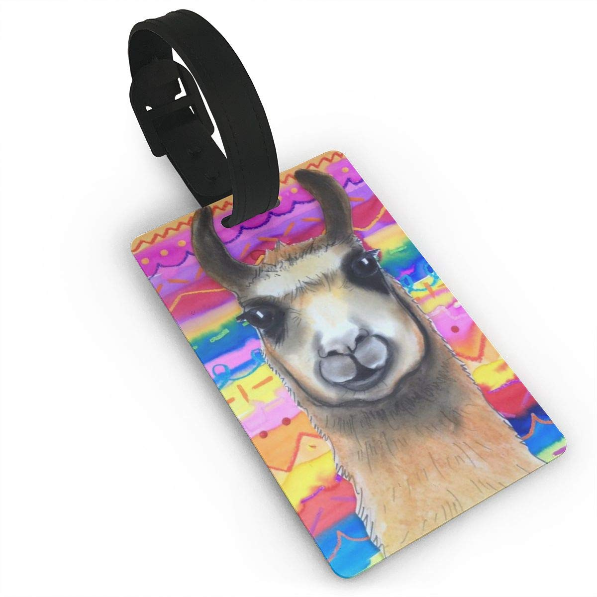 2 Pack Luggage Tags Cute Llama Baggage Tag For Suitcase Bag Accessories