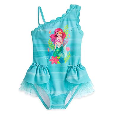 a739eff621 Amazon.com: Disney Ariel Deluxe Swimsuit for Girls: Clothing
