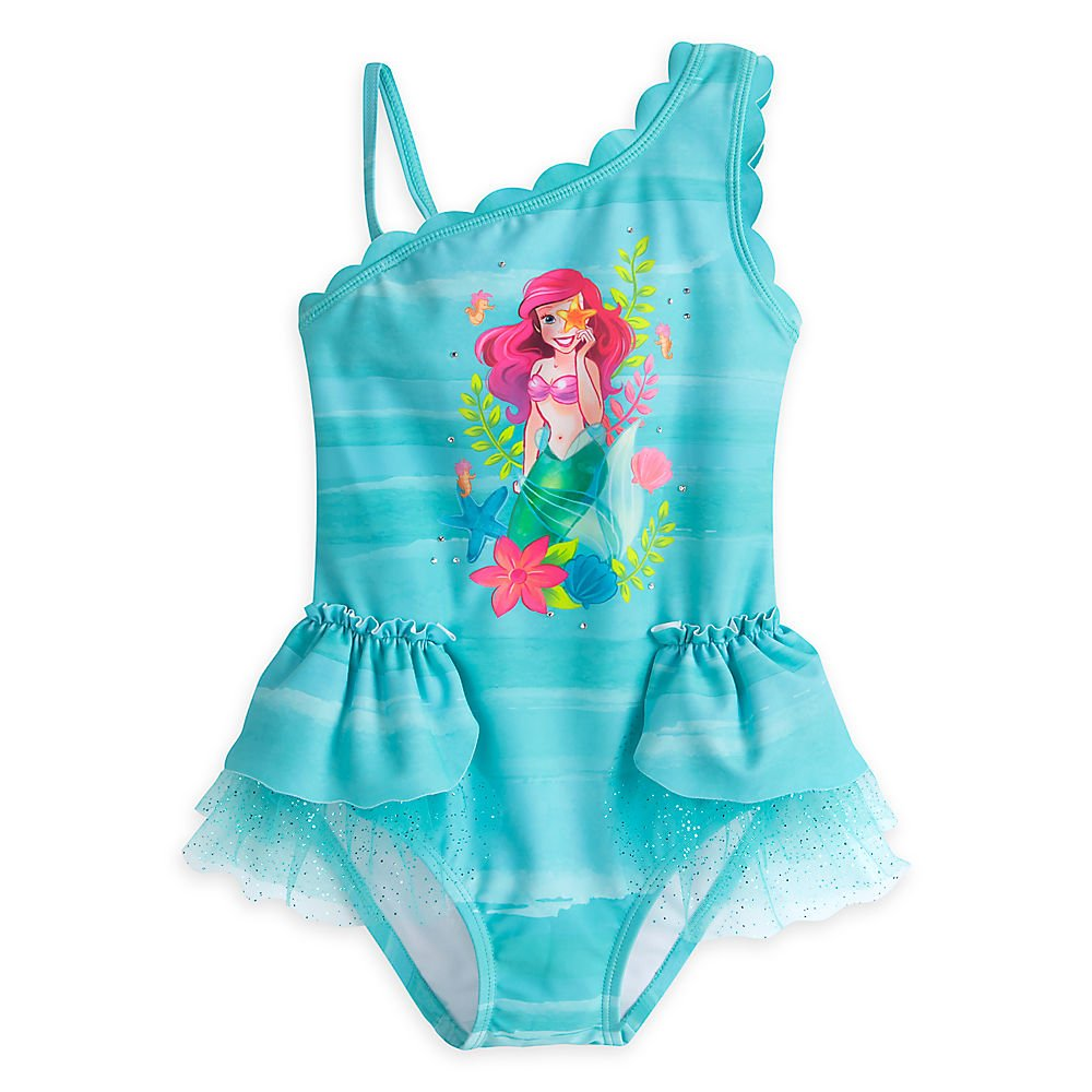 Disney Ariel Deluxe Swimsuit for Girls Size 5/6 458035924912 by Disney
