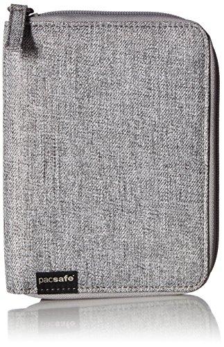 Pacsafe RFIDsafe LX150 Anti-Theft RFID Blocking Passport Wallet, Tweed Grey ()