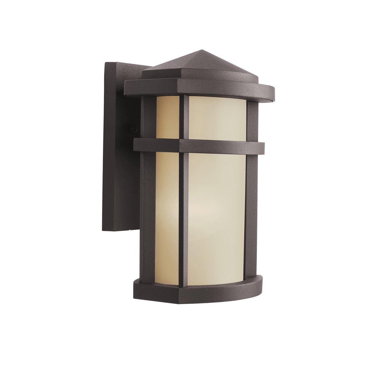 kichler 9166az one light outdoor wall mount wall porch lights