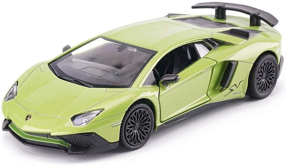 HHtoy 1/36 Aleación Sonido Luz Simulación Coche Tirar hacia atrás Vehículo Super Modelo de vehículo deportivo Regalo for niños Juguete Aleación de coche Modelo de simulación for regalo for todas las e
