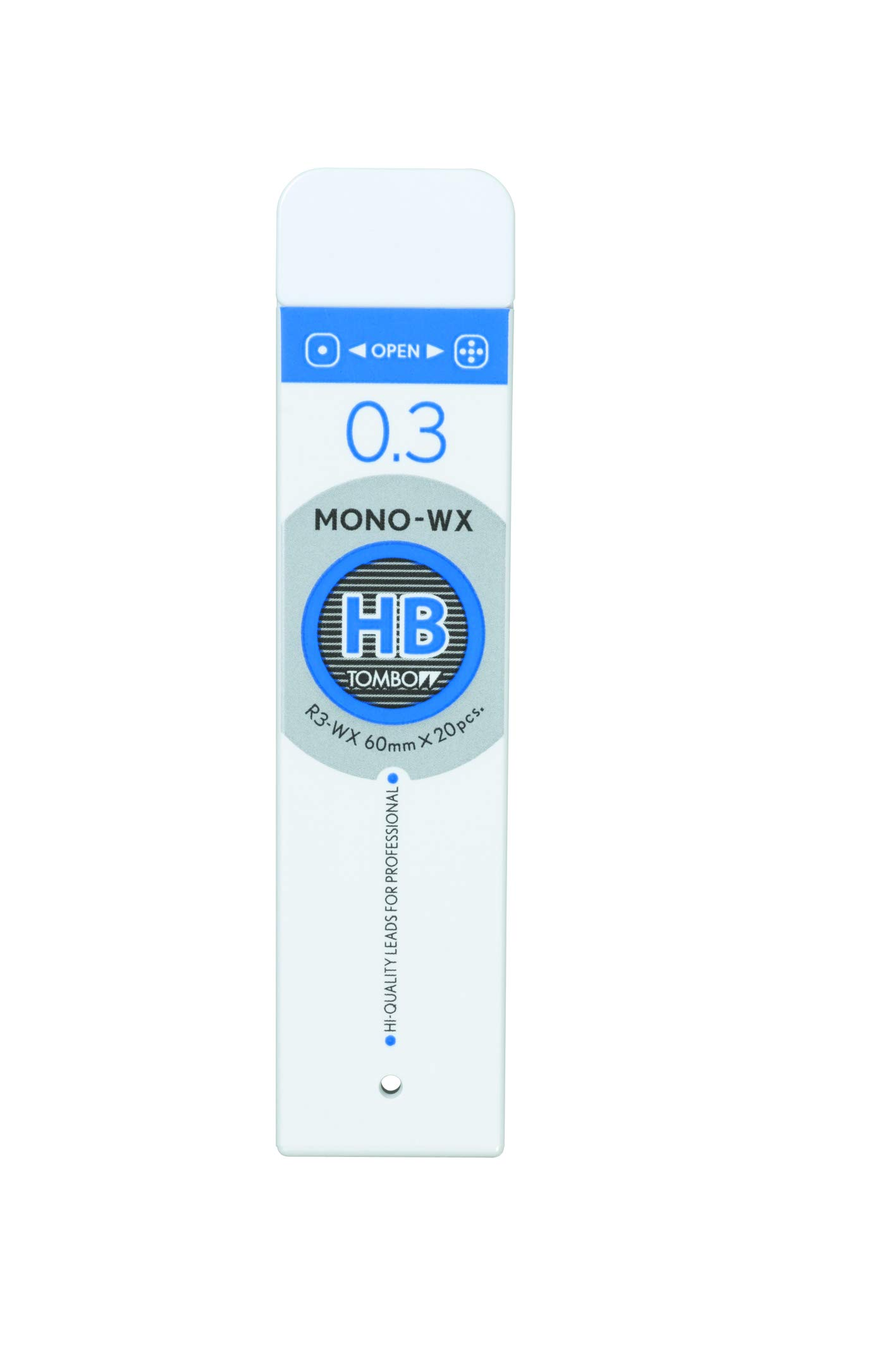 Tombow Mono WX Spare Pencil Lead, HB, 0.3mm, 20-Pack
