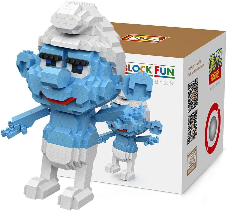 Loz 9755. Kit de construccion miniaturizada. Pitufo. 820 piezas: Amazon.es: Juguetes y juegos
