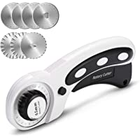 AGPTEK Rotary Cutter Set, 45mm Rotary Cutter with 7 Replacement Rotary Blades, Rotary Blades & Safety Lock for Precise…