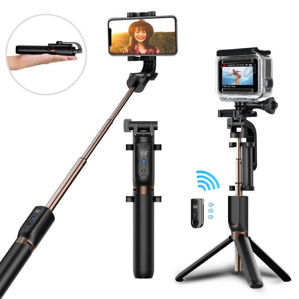 Perche Selfie Trépied MATONE Bluetooth Selfie Stick Monopode Extensible avec Télécommande, 360°Rotable Bâton de Selfie pour iPhone X/8/7 Plus/6S/6, Samsung Galaxy S9/S8 Plus, Gopro et Caméras d\'Action