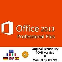 MS Office 2013 Professional Plus 32 Bit & 64 Bit - Original License Key by Post and E-mail + TPFNet® Guide - Shipping Maximum 60min