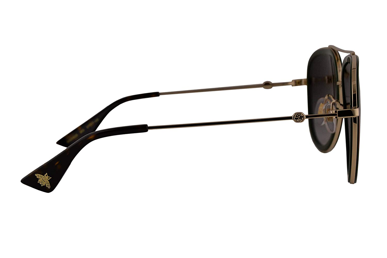 ef18642da19 Amazon.com  Gucci GG0062S Sunglasses Green Red Gold w Gray Gradient Lens 003  GG 0062S  Clothing