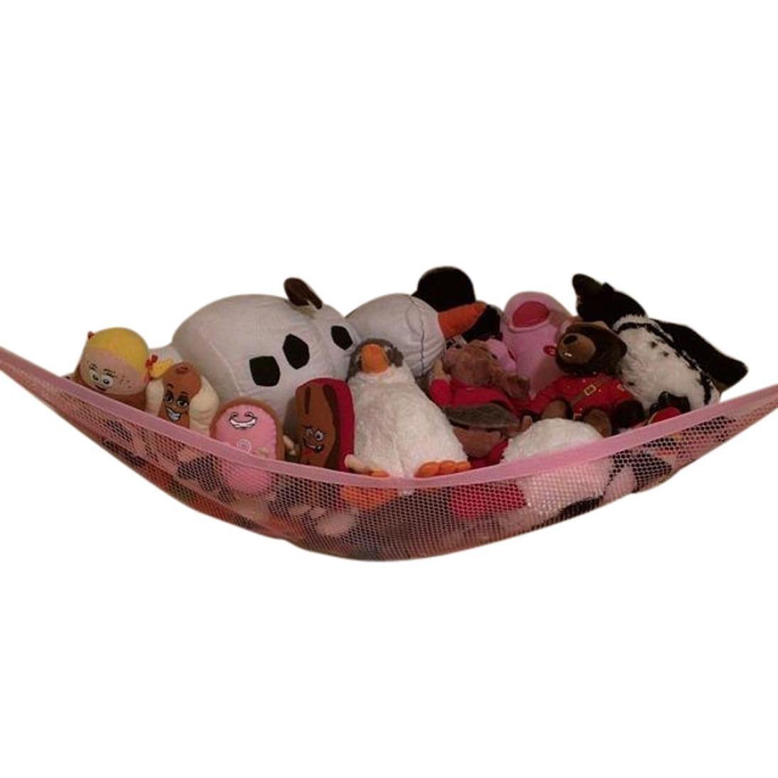 Bescita Toy Hammocks, Jumbo Toy Hammock Corner Toy Hammock Cuddly Toy Storage Hammock Net Organiser   Size: 32' x 24' x 24' for Cuddly Toys, Stuffed Animals, Teddies, Soft Toys (White)