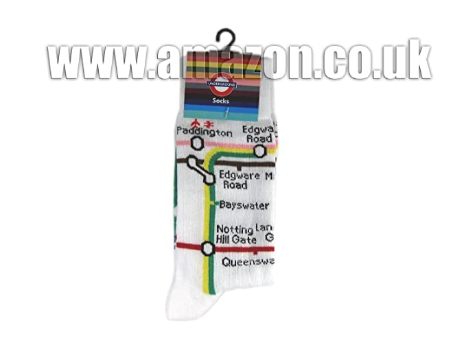 Amazon.com: Black Socks with Mind the Gap Roundel Print - Transport for London Souvenir: Clothing