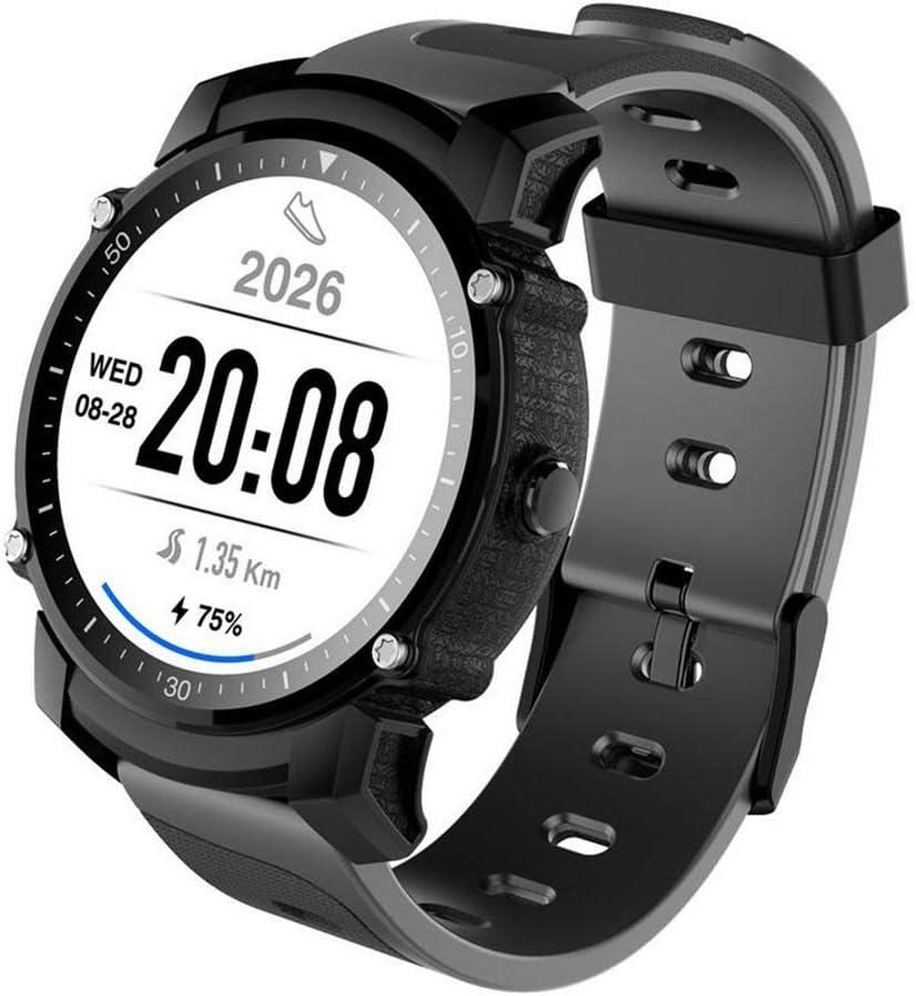 Hombres Reloj inteligente Rastreador de ejercicios, GPS impermeable Reloj deportivo Reloj Altímetro Compás con frecuencia cardíaca Presión arterial Sueño Monitor de podómetro Pulsera inteligente para