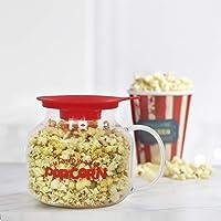 Femora Borosilicate Glass Microwave Safe Popcorn Marker-2500ML (Serving 4 PPL)