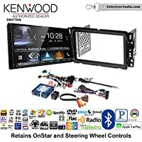 Volunteer Audio Kenwood DMX7704S Double Din Radio Install Kit with Apple CarPlay Android Auto Bluetooth Fits 2000-2005 Saturn S/L Series