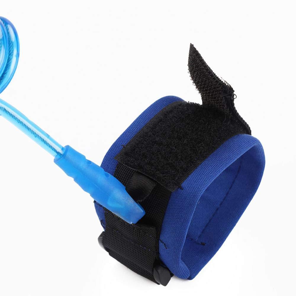 Cuerda anti-perdida para ni/ños a prueba de desgaste protege a los ni/ños de perderse no t/óxico Azul fuerte enlace de pulsera el/ástico duradero para ni/ños adultos de 1,5 m garant/ía de seguridad