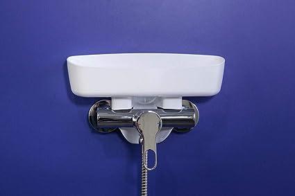 Color Blanco Sin Adhesivos Sin Ventosas Novedoso Sistema de Sujeci/ón Flexible F/ácil de Colocar Bandegel Estante de Ducha Sin Tornillos