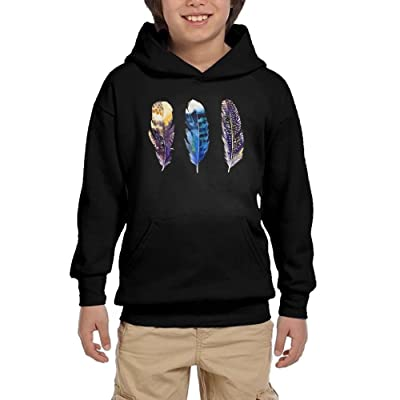 bdd60b3de08 Hoodies HX7 Birds and Feathers Colortone Youth Print Hoodie Casual  Sweatshirt With Pocket