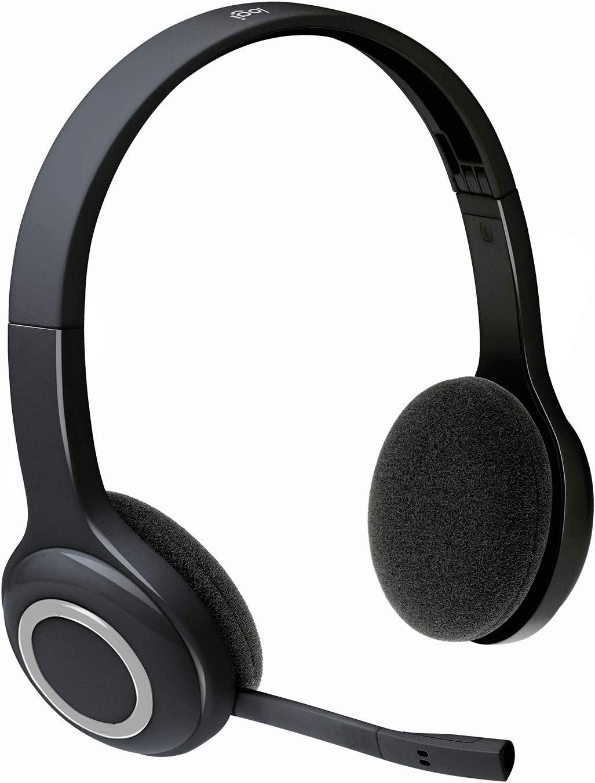 Logitech H600 Auriculares Inalámbrico, Sonido Estéreo con Micrófono Giratorio, Nano Recpetor USB, Ajustable, Batería de Larga Duración, PC/Mac/Portátil , Negro