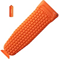 OlarHike Camping Sleeping Pad with Pillow for Hiking (Orange)