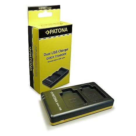 PATONA Cargador de batería doble Li-50B para Bateria Olympus mju 1010 1020 1030 sw 9000 9010 tough 6000 6010 6020 8000 tough 8010 D-715 SH-21 SH-25MR ...
