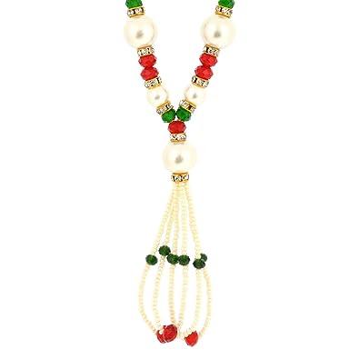 b99558efae9 Buy Memoir Pearl Beaded Glory Rani Haar for Women Online at Low Prices in  India