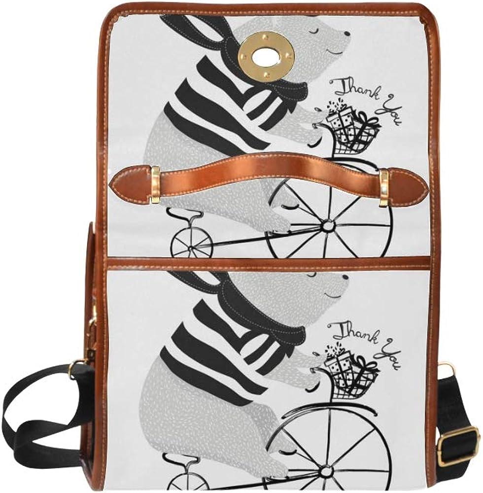 Mini Crossbody Bags For Women Gentle Lovely Cycling Little Bear Women Crossbody Satchel Bag Tote Shoulder Bag Handbags For Girl Lady Travel Work Shopping Travel Shoulder Bag