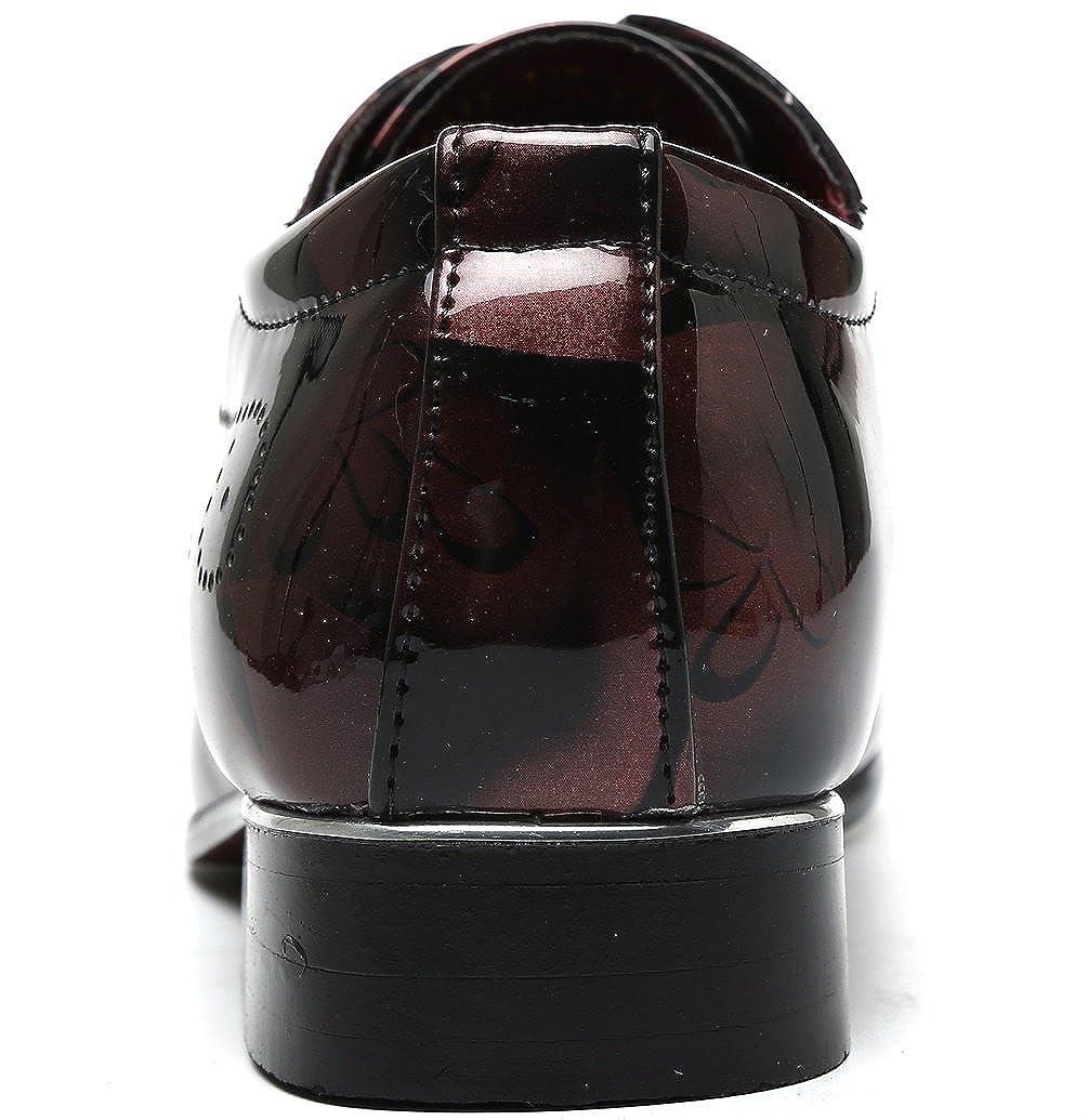 DADAWEN Herrenschuhe Britischen Stil Freizeitschuhe Schnürhalbschuhe Derby Freizeitschuhe Stil Rot 738efa
