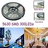 5M SMD 5630 300 LED Strip Light DC 12V Waterproof IP65 .