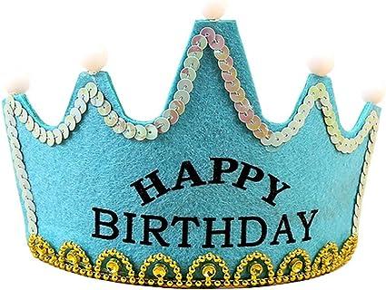 Amazon.com: MAGA 1 LED luz de cumpleaños sombrero princesa ...