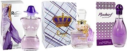 Fine perfumería Royalty de la mujer perfume Set, Pack de 3: Amazon.es: Belleza