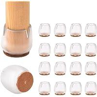 16 protectores de silicona para patas de silla de mesa, tapas de patas de goma, almohadillas antideslizantes para…