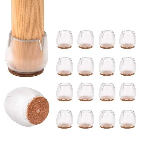 16 protectores de silicona para patas de silla de mesa, tapas de patas de goma, almohadillas antideslizantes para muebles, cubiertas de mesa, ...