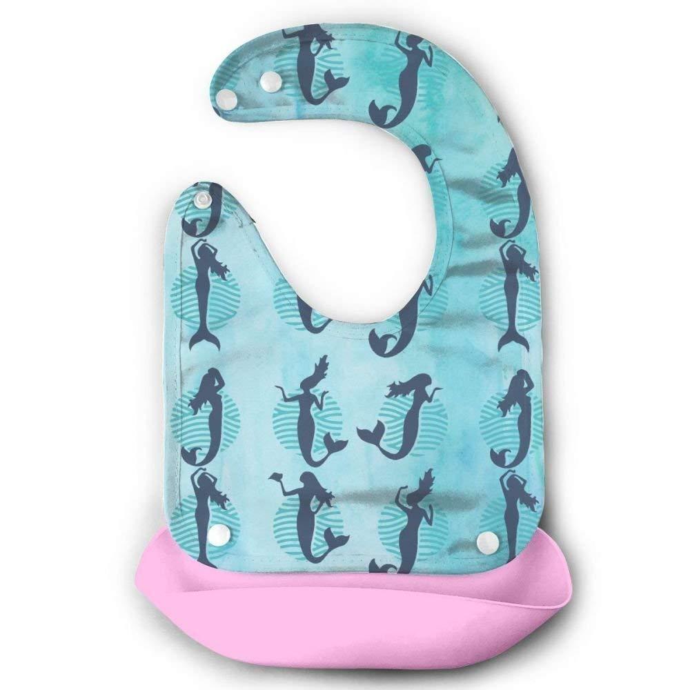 Lindos siluetas de vector de siluetas de sirenas impermeables para bebés con bolsillo: Amazon.es: Bebé