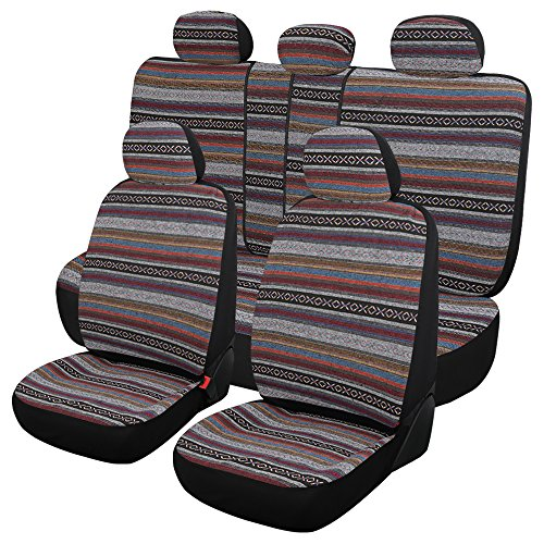 Resistant Seat (Autojoy Baja Blanket Car Seats Covers Universal Fit,Stitching and Wear-Resistant Car Seat Protector)