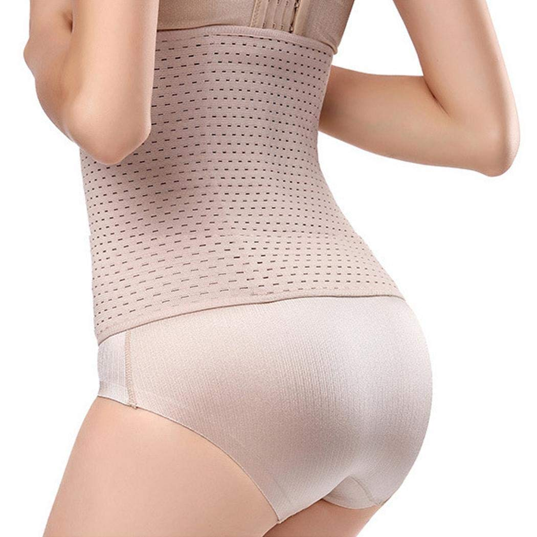 loukou Women Breathable Three-Breasted Buckle Closure Solid Slim Corset Body Shaper Corsets