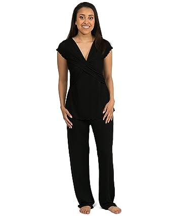 71dcd117dc1 Kindred Bravely Davy Ultra Soft Maternity & Nursing Pajamas Sleepwear Set  (Black, X-