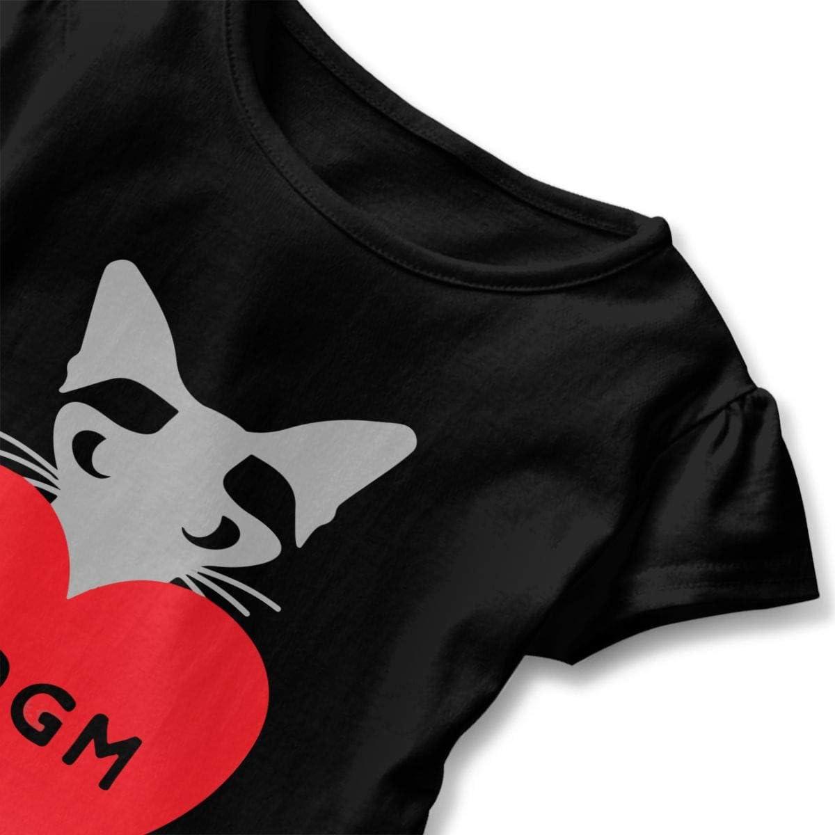 26NSHIRT Elvis SAYS SSDGM-1 Toddler Girls Short Sleeve Graphic Shirts