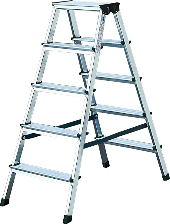 Krause – Escalera doble dopplo, 1 pieza, 2 x 5 niveles, 120342: Amazon.es: Bricolaje y herramientas