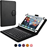 Blackberry PlayBook keyboard case, COOPER BACKLIGHT EXECUTIVE 2-in-1 Backlit LED Bluetooth Wireless Keyboard Leather Travel Cover Folio Portfolio Stand with 7 Colors 4G LTE, 4G HSPA+ (Black)