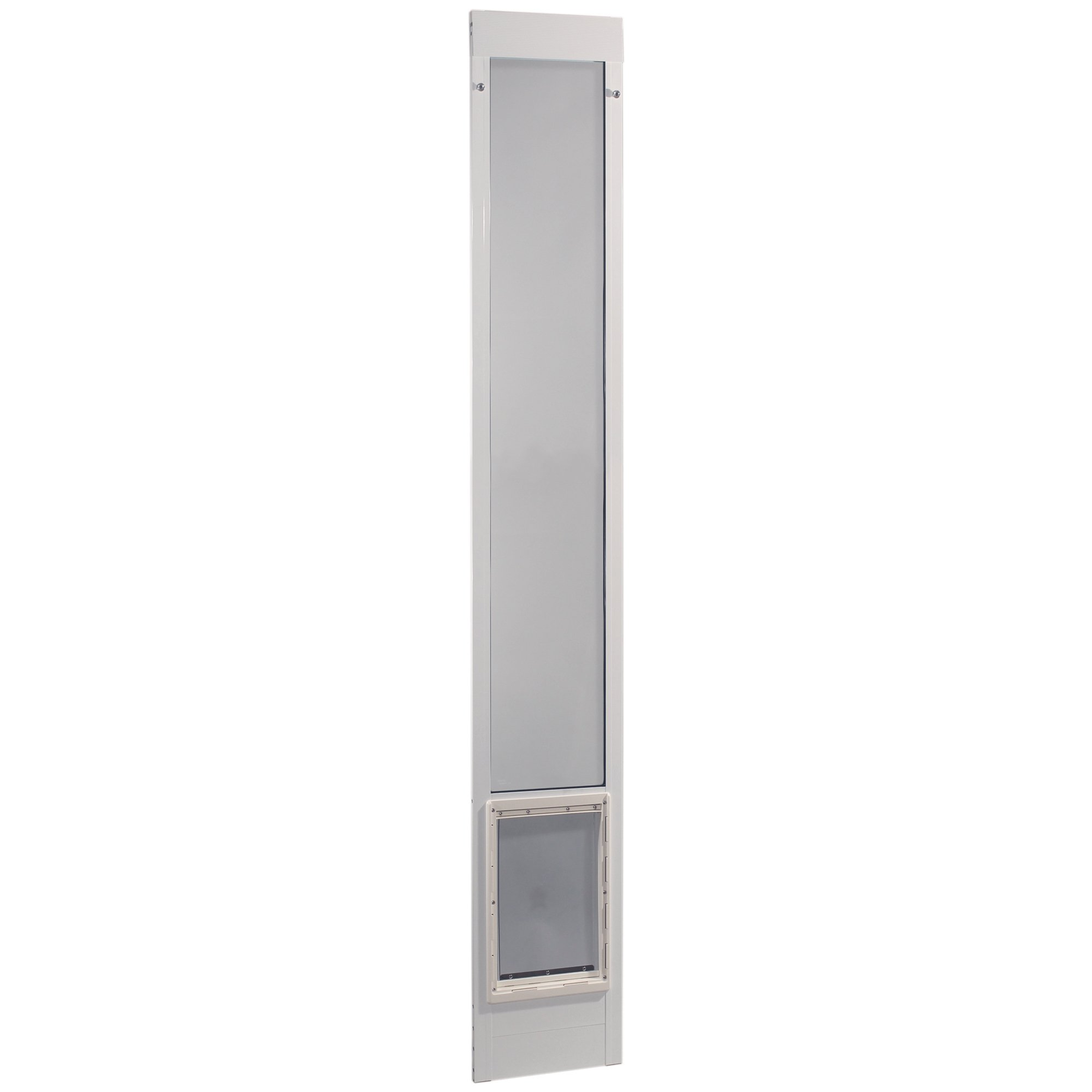 Ideal Pet Products 96'' Fast Fit Aluminum Pet Patio Door, Extra Large, 10.5'' x 15'' Flap Size, White