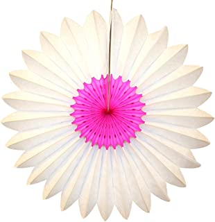 product image for 3-Pack 18 Inch Tissue Paper Fanburst Decoration (Cerise and White)