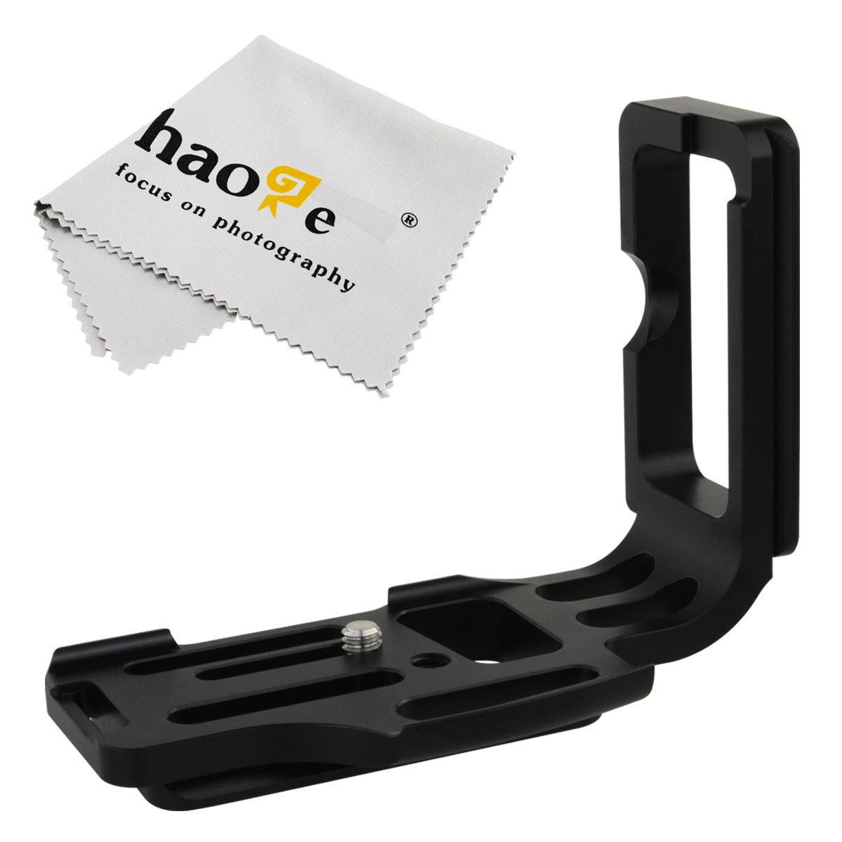 haoge Vertical Cámara QR placa en L de liberación rápida de disparar Bracket Soporte para cuerpo de la cámara para Nikon D800 D800E D810 Sunwayfoto Kirk RRS ...